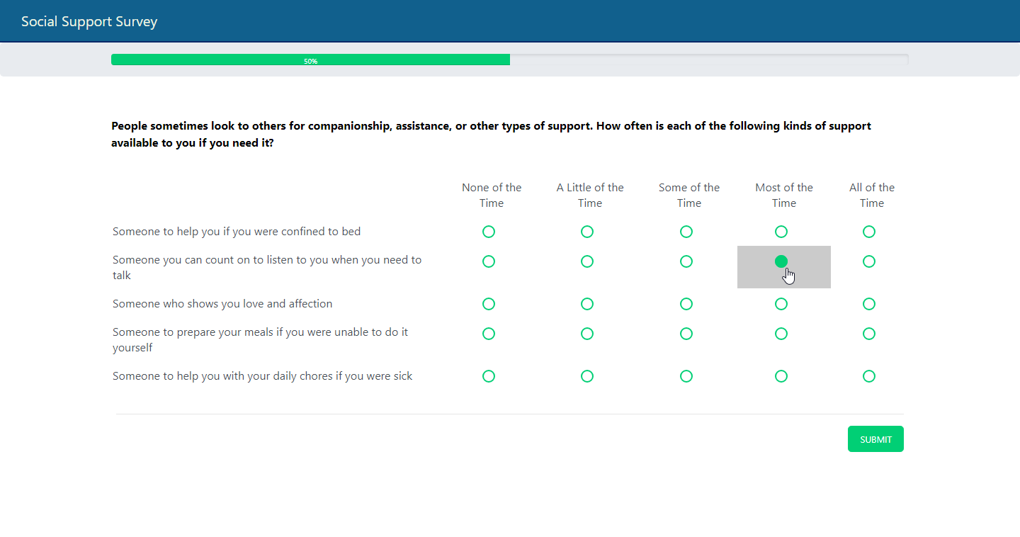 A Likert Scale Question in my FactFinder Solution