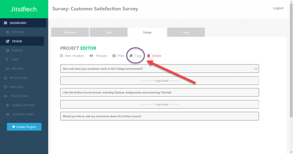 Copying a Questionnaire or Survey Template in my FactFinder Solution